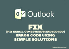 Fix [pii email cd4b80dbd951adb0d4dd] Error code